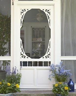 Pretty, shabby chic screen door Home Decor Pinterest Shabby