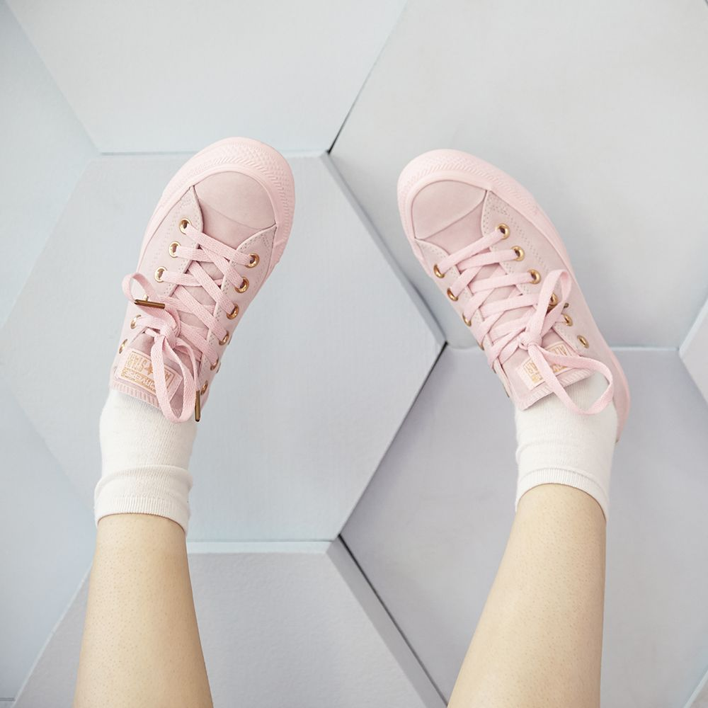 2aa5005b49fd We are all about our latest and Exclusive  converse All Star Low Leather in Cherry  Blossom Bio Beige  officelovesconverse