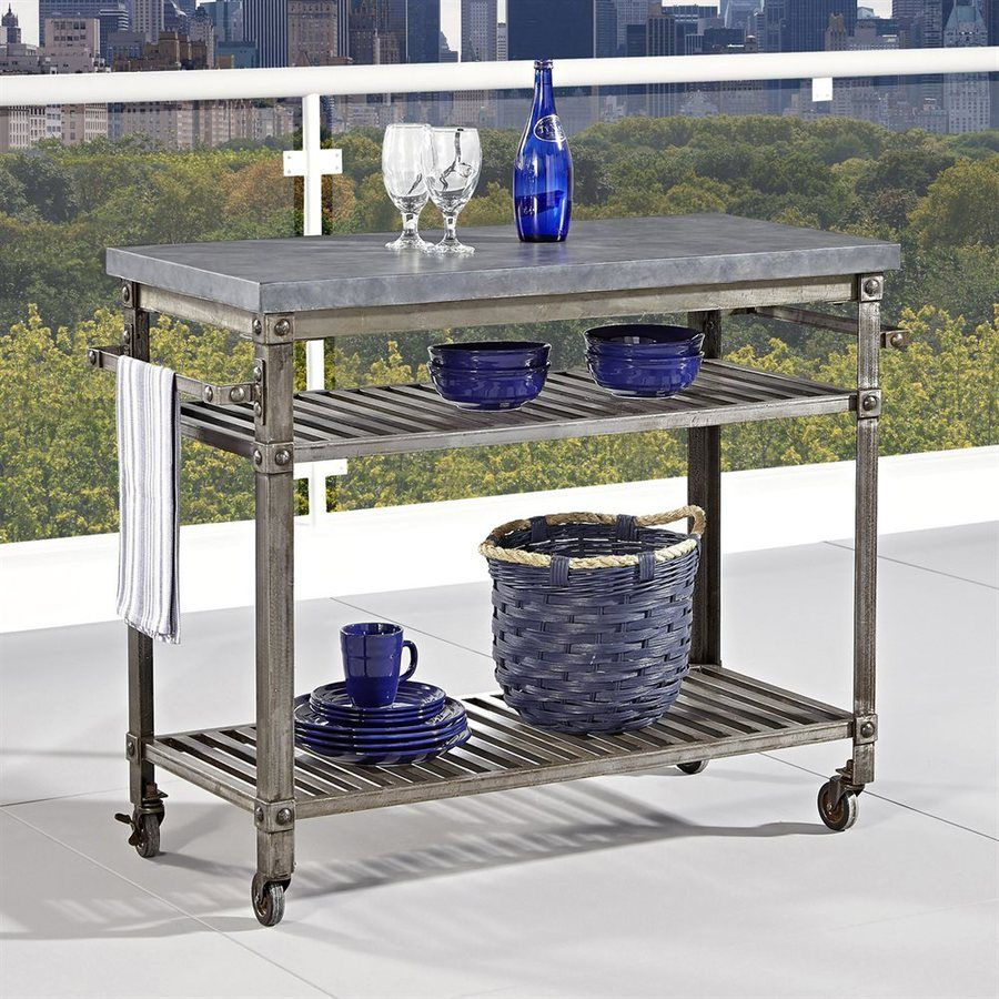 Shop Home Styles Urban Style Aged Metal Outdoor Serving Cart At Lowes Com Urban Style Kitchen Outdoor Bar Furniture Kitchen Decor Modern