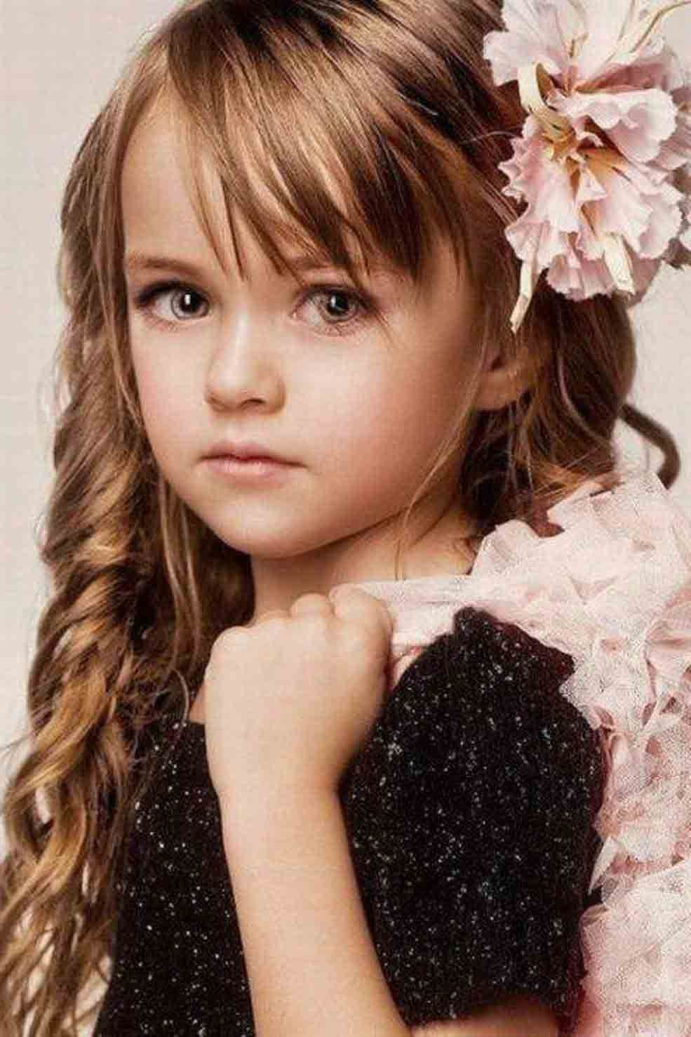 cute side braid with front hair puff little girls hairstyles for