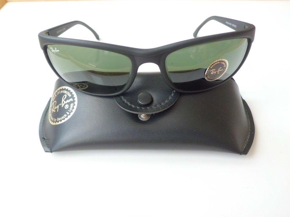 152719b57acbd ... sunglasses 354af 5e61d  cheap vintage ray ban b l predator series cats  matte black a4000 d5857