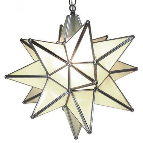 Moravian Frosted Glass Star Light Star Pendant Lighting Star