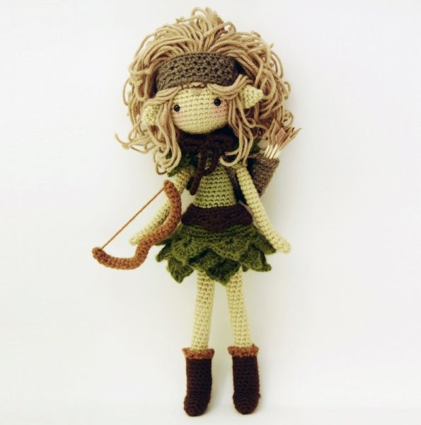 Lucia, the Huntress amigurumi pattern by Fox in the snow designs ...