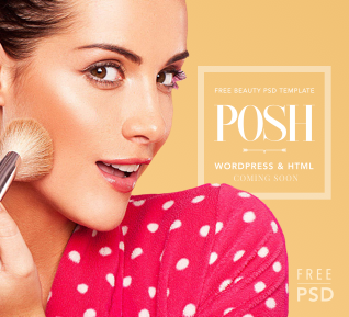 POSH – Free PSD Beauty Template