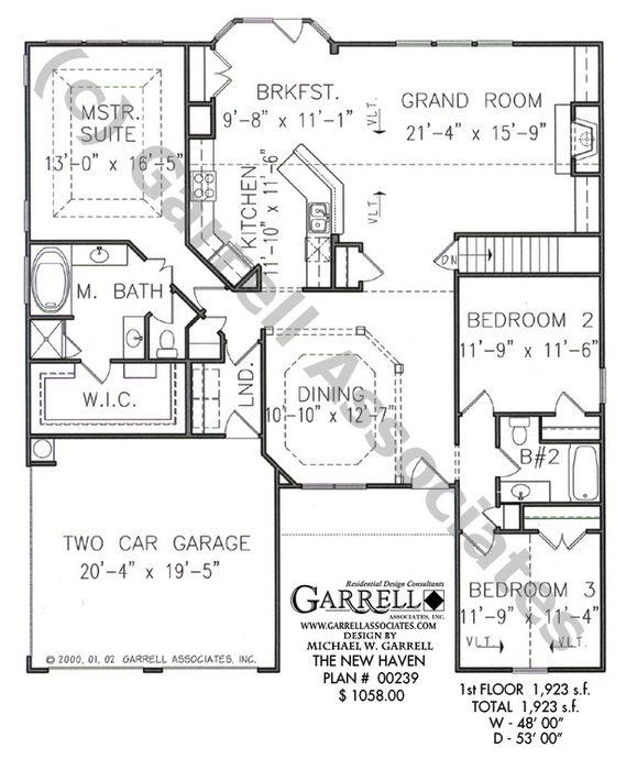 New Haven House Plan 07274 Garrell Associates Inc House Plans Accessible House Plans Floor Plans