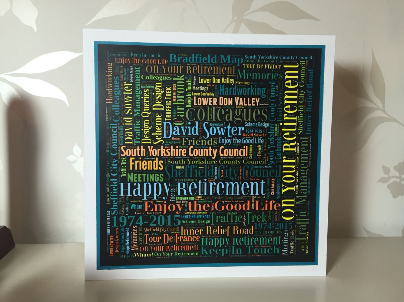 Handmade personalised word art retirement card my handmade cards handmade personalised word art retirement card gumiabroncs Choice Image