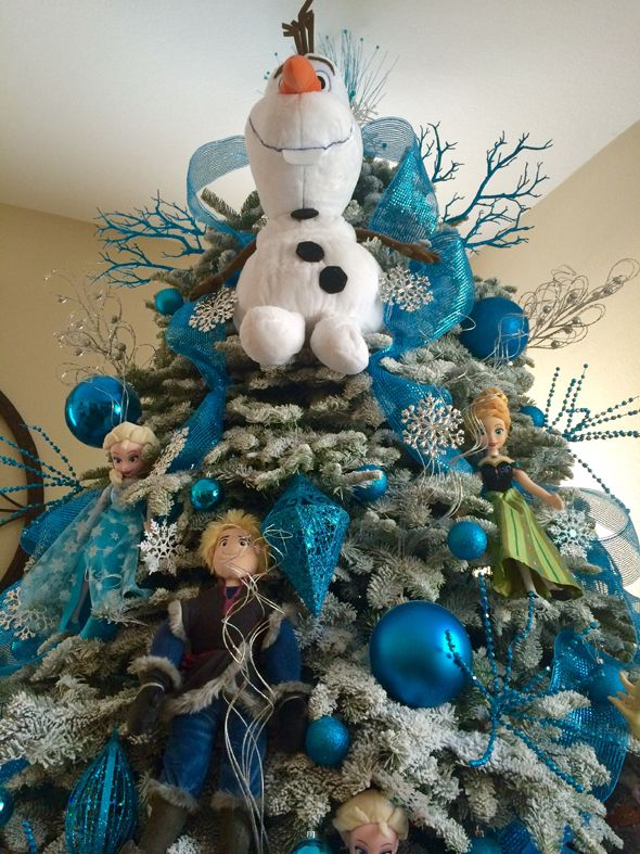frozen inspired christmas tree - Frozen Christmas Tree Ornaments