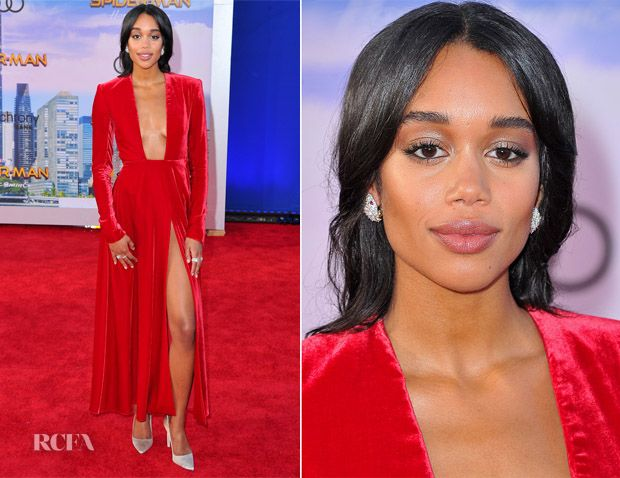 42cfc3ccbbe Laura Harrier In Calvin Klein By Appointment -  Spider-Man  Homecoming  LA  Premiere - Red Carpet Fashion Awards