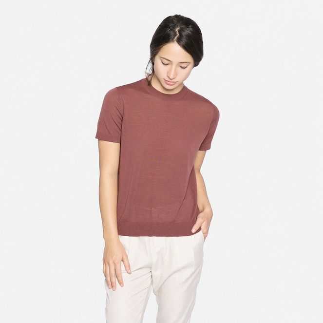 The Short Sleeve Luxe Wool - Rose – Everlane