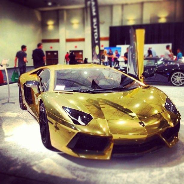 Gold Lamborghini Aventador With Images Lamborghini