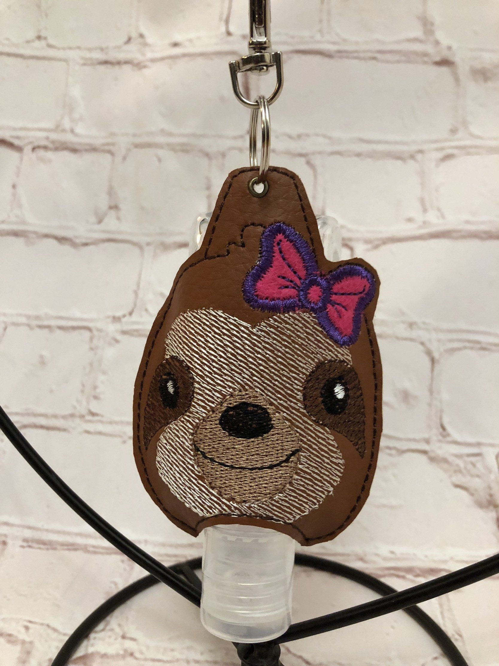 Sloth Hand Sanitiser Holder With Bag Clip Hand Sanitizer Holder