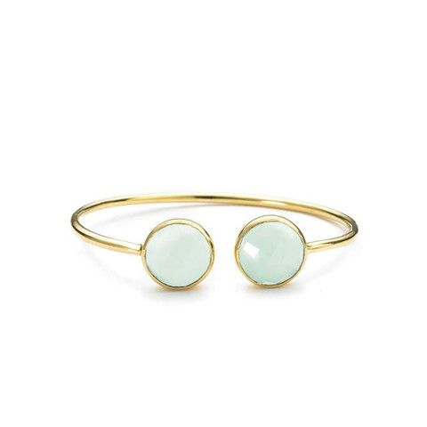 Faceted Two Stone Bangle by Margaret Elizabeth NEW on Kirribilla.com