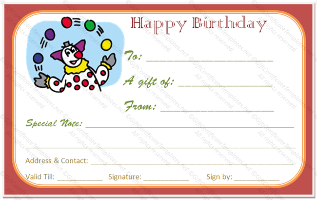 Birthday Gift Coupon Template Are You Planning A Birthday Gift Then You Are At The Right Place .