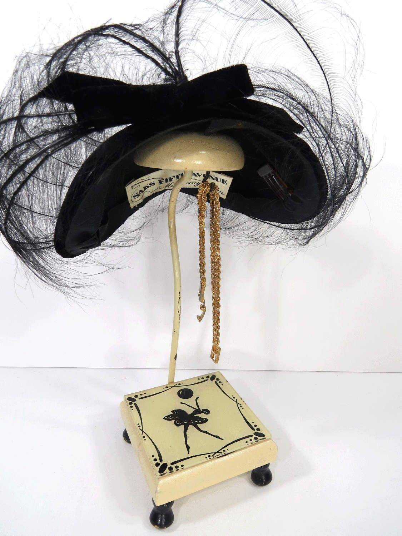 Vintage Ballerina Hat Stand, Wood & Plexiglas, Art Deco Millinery Display, Photo Prop, Shop Hat Display by UrbanRenewalDesigns on Etsy