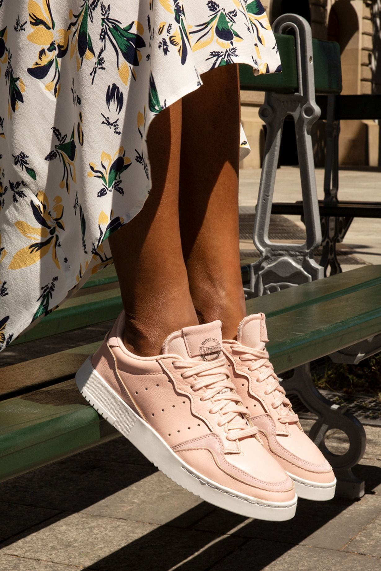 Pink leather shoes, Adidas originals