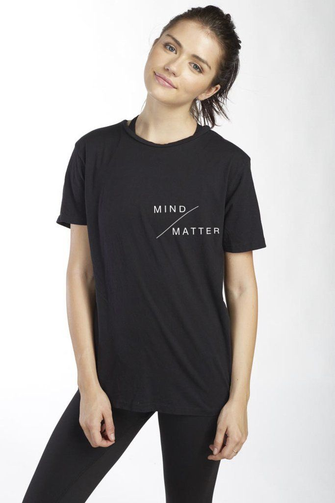 47918efd Pin for Later: 11 Fun, Inspiring Graphic Tees That'll Make You More Even  More Excited to Go to the Gym Good hYOUman Mind Over Matter Good hYOUman  Mind Over ...