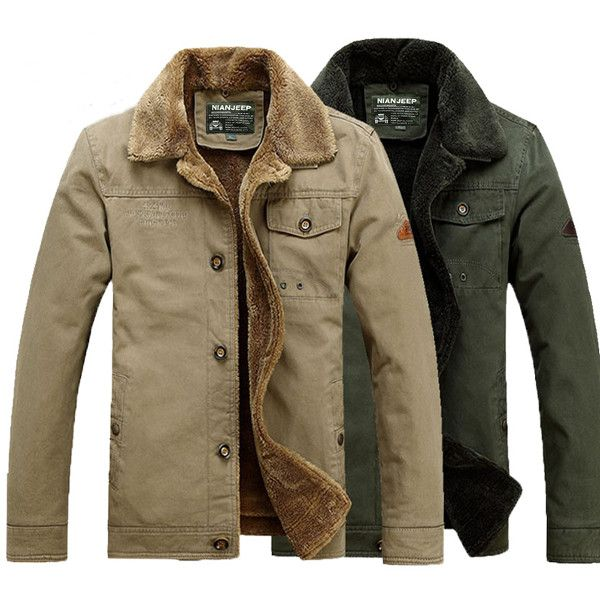 Winter Mens Cotton Padded Coat Casual Fashion Jackets Plus Size ...
