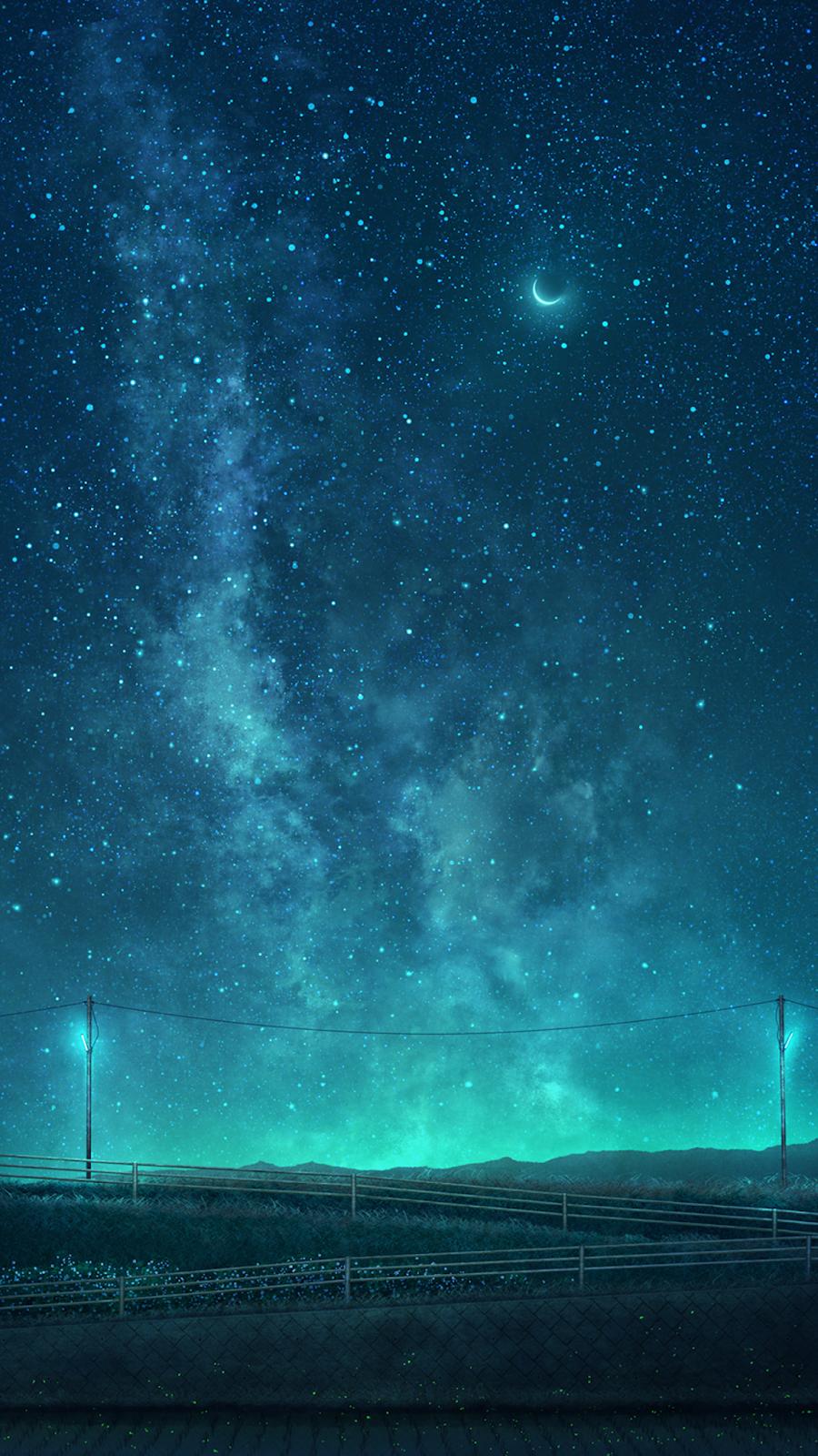 Marvelous night sky in 2020 Scenery wallpaper, Night