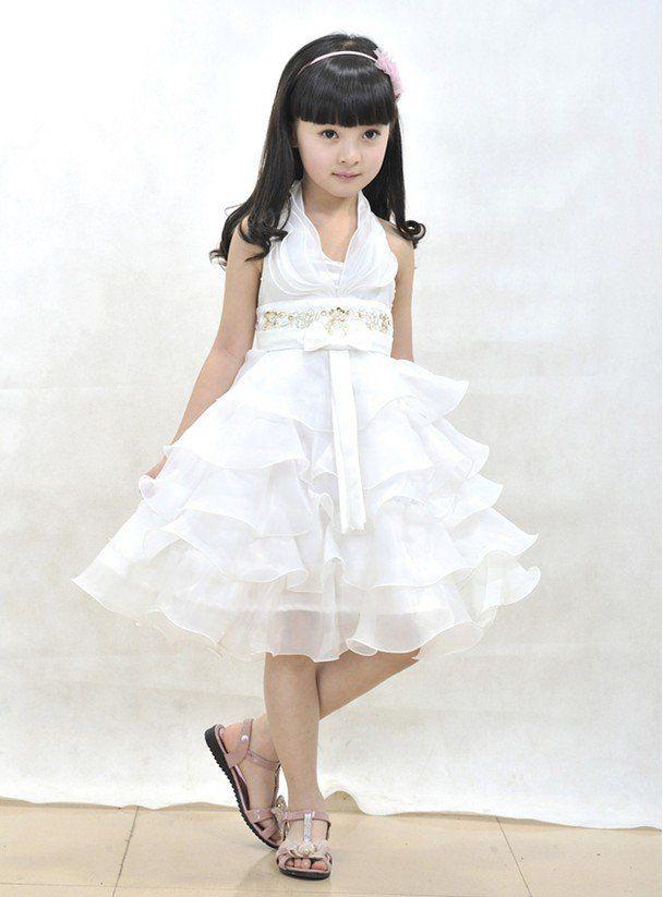 eafd163db6292 Children dresses girls halter pleated cake dresses girl | Children's ...