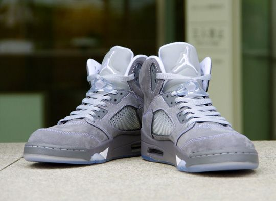 Fancy - Nike Air Jordan 5 Retro Wolf Grey Sneakers