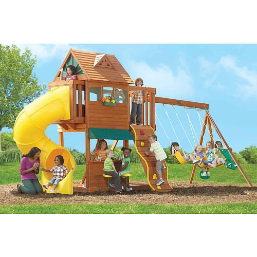 Summerville Wood Gym Set Big Backyard Toys R Us