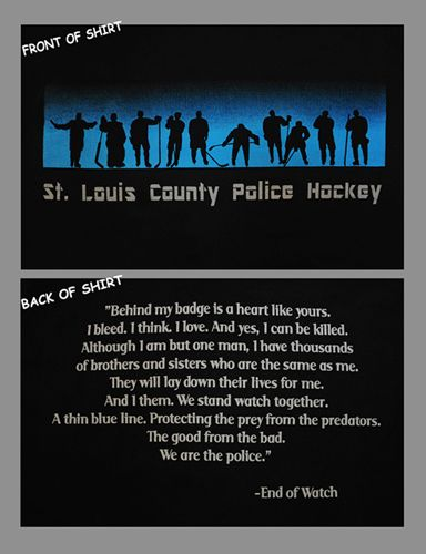 St Louis County Police (STLCPD) Hockey Thin Blue Line T-Shirt