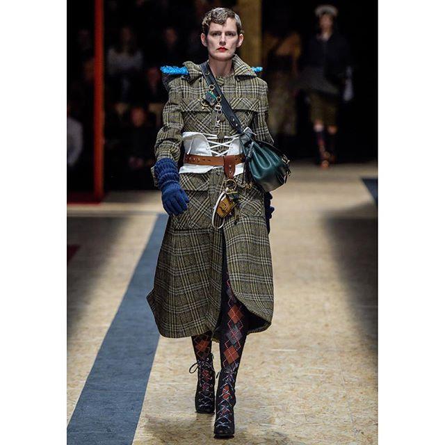 Legendary: Stella Tennant on the runway for Prada #MFW (: Davide Maestri)