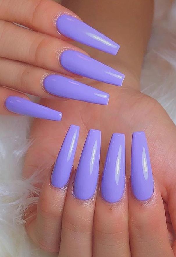 15 Nail Matte Coffin Purple Ballerina Nails Designs Purple Acrylic Nails Ballerina Nails