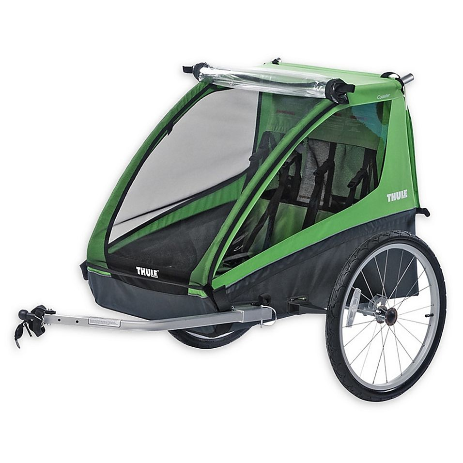 Thule Cadence Double Child Bicycle Trailer With Images Child Bike Trailer Child Bicycle Trailer Bicycle Trailer