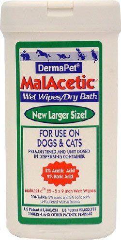 "DermaPet"" Malacetic Wet Wipe Dry Bath (25 count) - http://www.thepuppy.org/dermapet-malacetic-wet-wipe-dry-bath-25-count/"