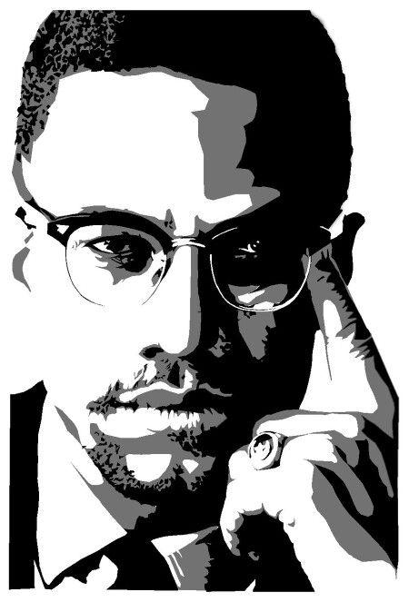 Malcolm X Imagem Negra Rostos Famosos Desenhos Afro