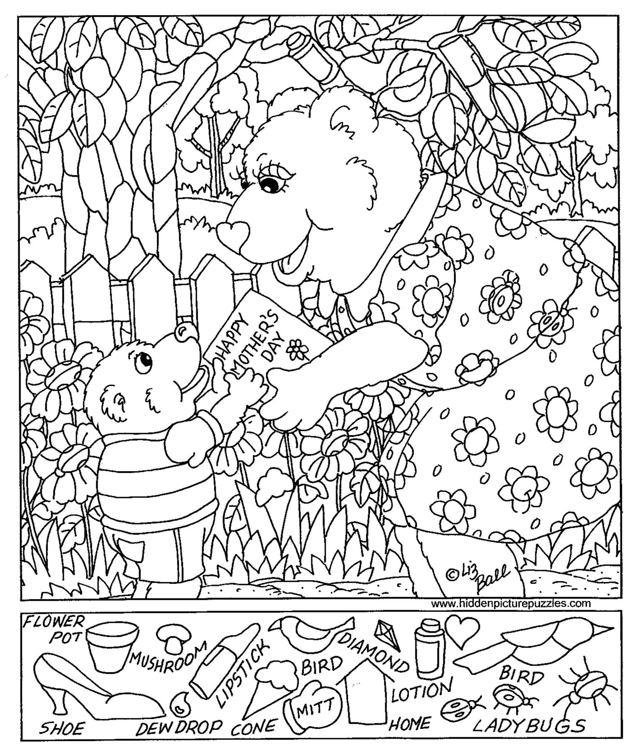 Worksheets Free Printable Hidden Pictures Worksheets hidden pictures page print your free at view and this mothers day get pages all kids network