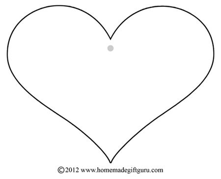 Heart Template  Printable    Heart Template And Craft