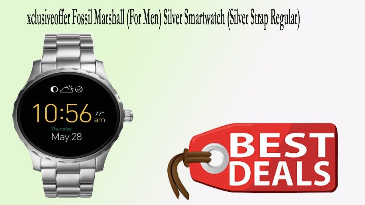 xclusiveofferFossil Marshall (For Men) Silver Smartwatch