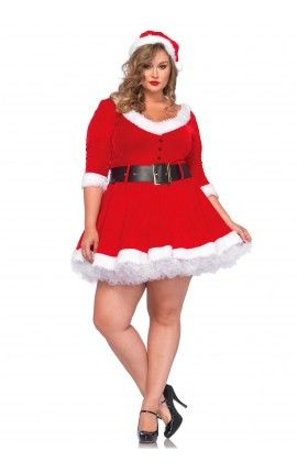 5393395f1 Disfraz Mama Noel Talla Grande