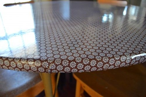 Quick Fix For A Drab Topoilcloth Diy Projects Diy Table Top