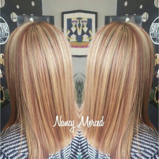 Highlights And Lowlights Strawberry Blonde Reddish Blonde Hair