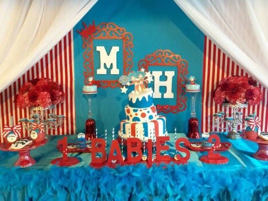 Thing 1 And Thing 2 Baby Shower Baby Shower Ideas Themes Seuss Baby Shower 2nd Baby Showers Dr Seuss Baby Shower