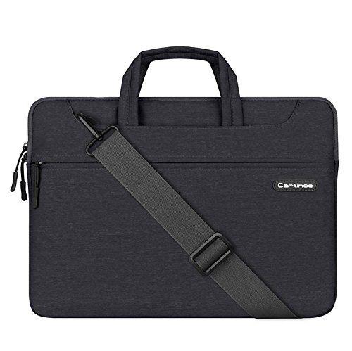 26달러 노리뷰 Cartinoe Waterproof Handbag Shoulder Bag Sleeve Carrying Case for 13 - 13.3 Inch MacBook / Laptop / Surface Book (Black)
