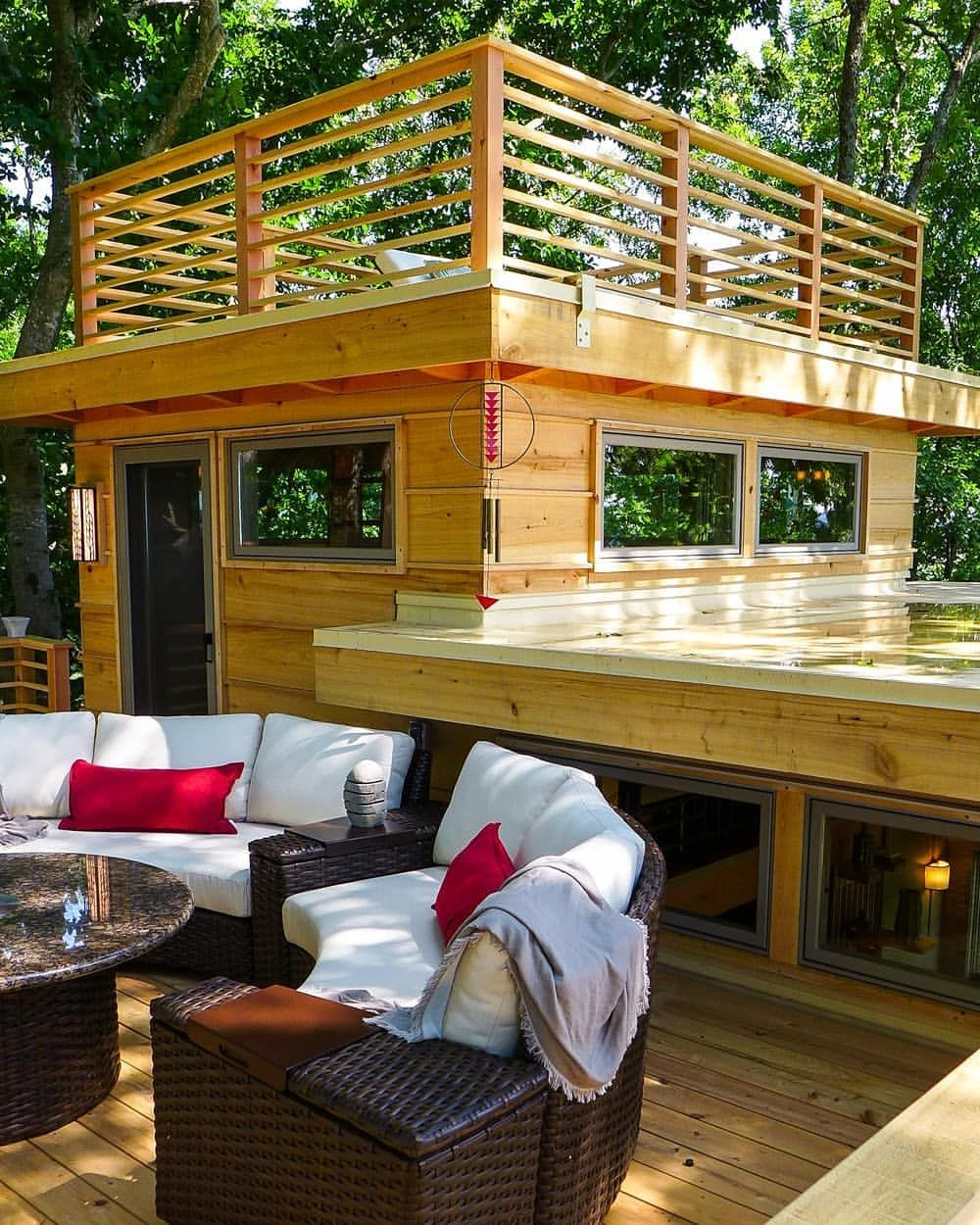 Looking forward to lots of sunny deck time up in the trees