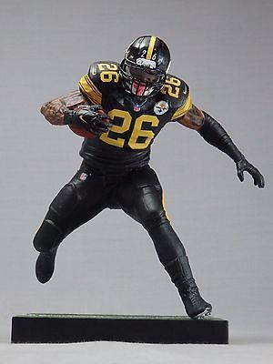 LE VEON BELL custom Mcfarlane figure PITTSBURGH STEELERS Color Rush jersey  TATS 6aed74d53