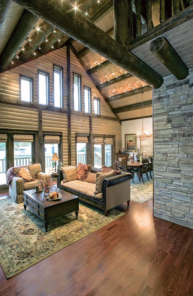 Home Interior Design Game Online: The Impressive Maine Log Home From Extreme Makeover: Home