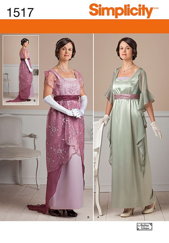 Simplicity 1517 New pattern Edwardian Dinner Dresses The year for ...