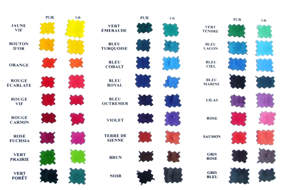nuancier - noms des couleurs en fran u00e7ais