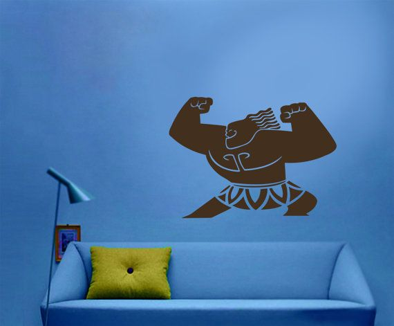 maui from moana wall decal for room decoration babyhauzdecals