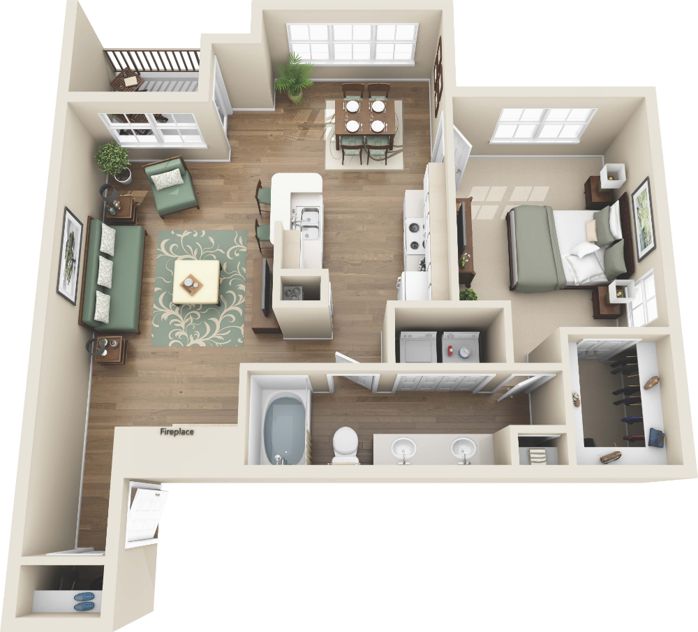 Luxury 1 And 2 Bedroom Colorado Springs Co Apartments Steadfast Apartment Rental Floorplans Colo Apartment Layout One Bedroom Apartment Apartment Plans
