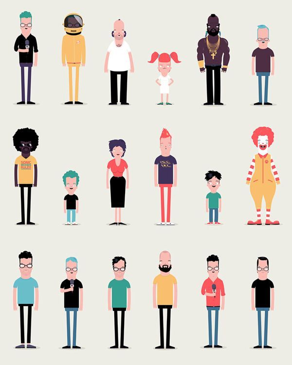 Character Design Genres : Flat character animation google search