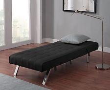 Sofa Bed Sleeper Sectional Modern Couch Mattress Chaise Black Lounger Den Dorm
