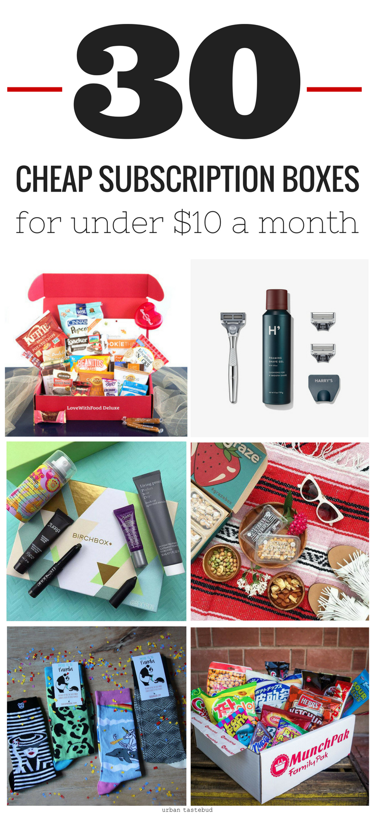 30 Cheap Subscription Boxes for $10 or Less | Subscription