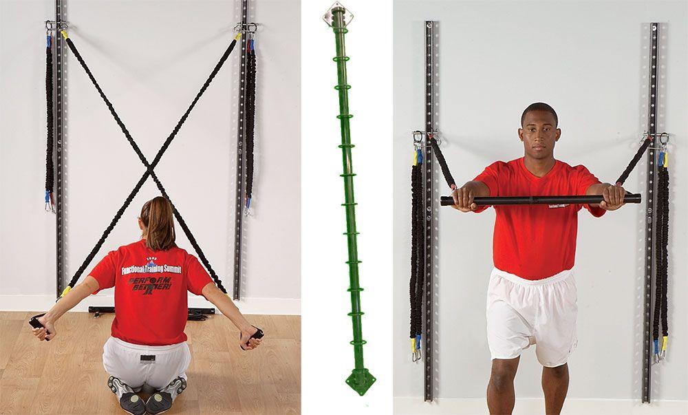 Adjustable doublerail wall mount gym home gym design